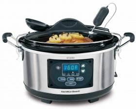 Set & Forget Slow Cooker with Built-In Temperature Probe @hamiltonbeach