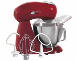 Eclectrics® Carmine Red All-Metal Stand Mixer