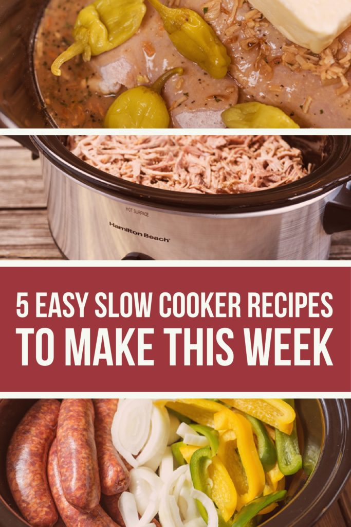 5 Easy Slow Cooker Recipes to Make This Week