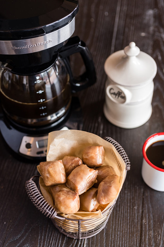 Beignets with Coffee Glaze