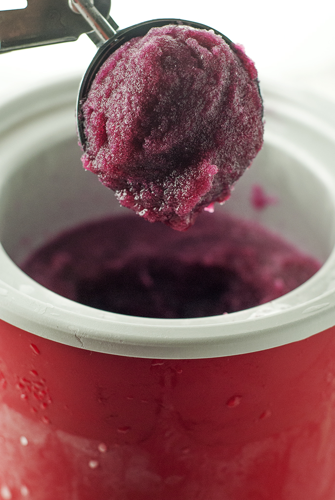 Center Stage: Blueberry Mint Sorbet with A Simple Pantry