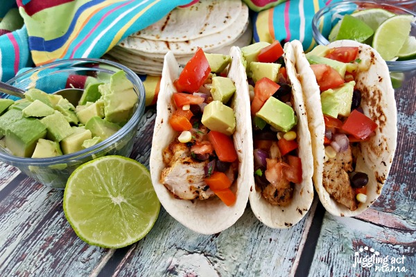 Chili Lime Chicken Tacos from Juggling Act Mama