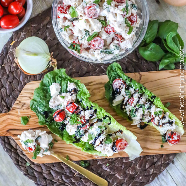 Caprese Chicken Salad from The Pinning Mama