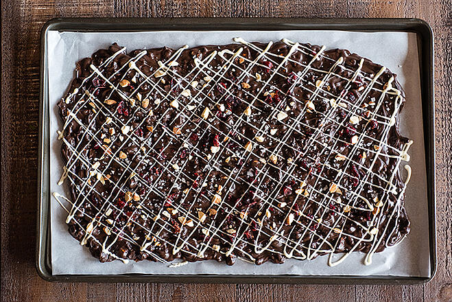 Cranberry and Almond Holiday Bark