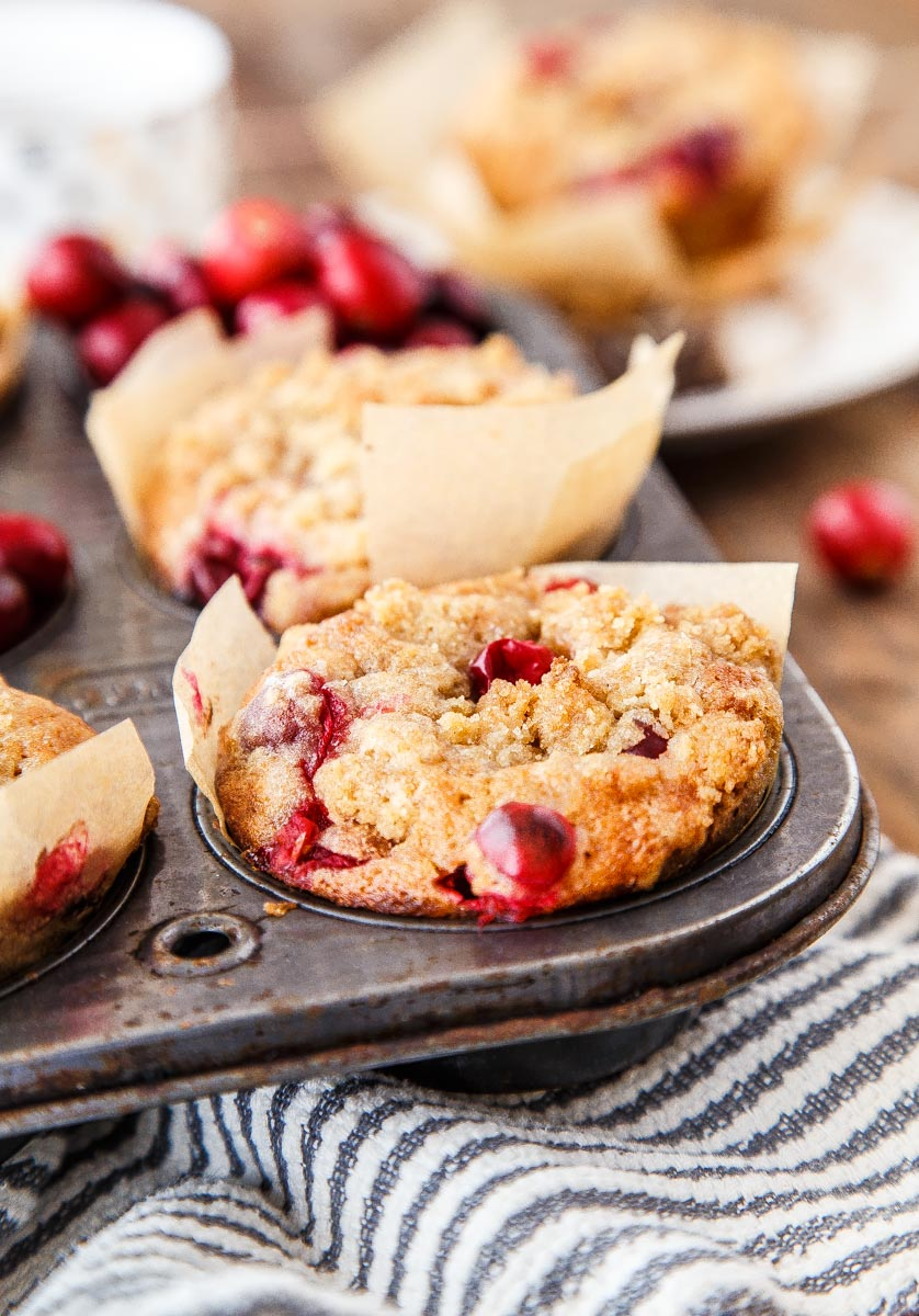 Cranberry Coffee Cake Muffins from Dessert for Two