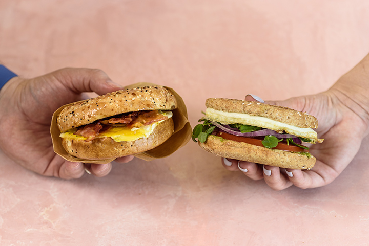 East VS West Breakfast Sandwiches
