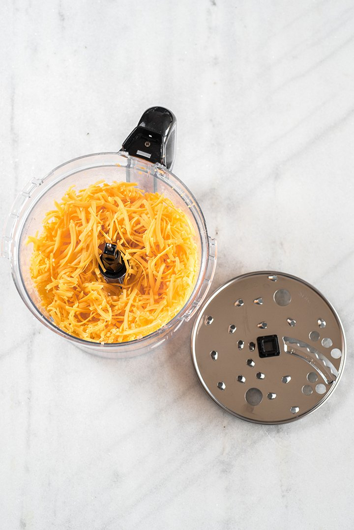 Food Processor Shredded Cheese