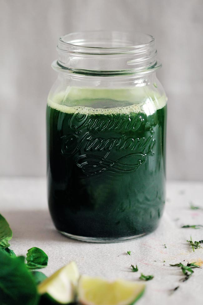 Healing Green Juice from the Awesome Green
