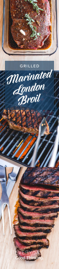 Grilled Marinated London Broil Pinterest Graphic