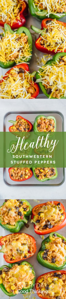 Southwestern Stuffed Peppers Pinterest Graphic