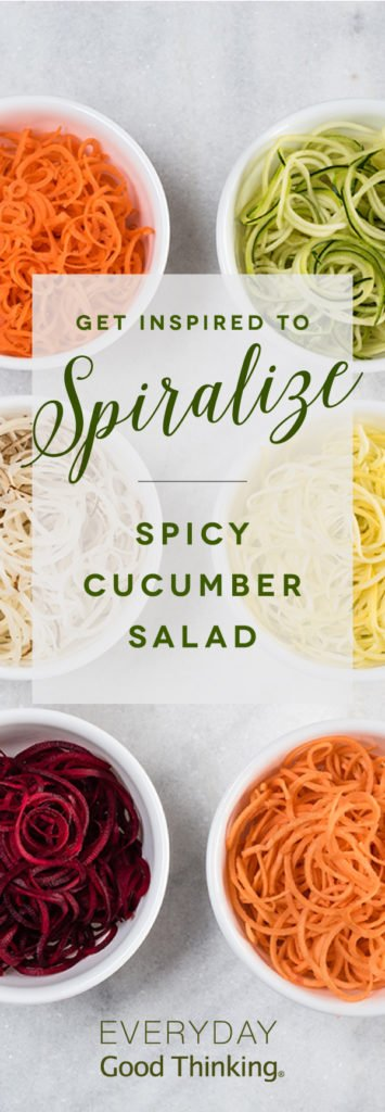 Get Inspired to Spiralize Pinterest Graphic