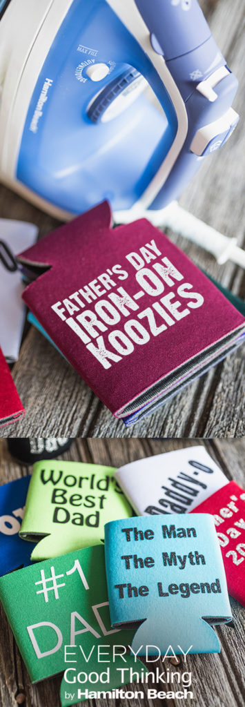 Father's Day Iron-On Koozies