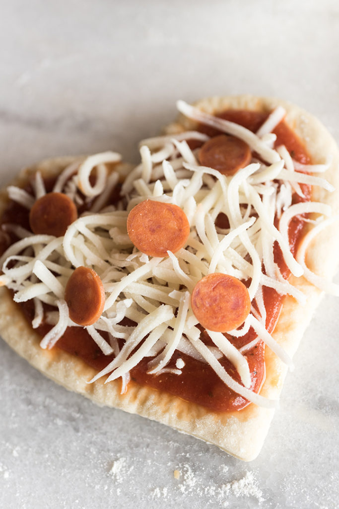 Heart-Shaped Mini Pizza