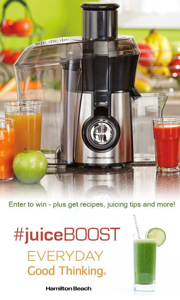 Check out the #JuiceBOOST from @HamiltonBeach on everydaygoodthinking.com and enter to win prizes on the blog, Facebook and Twitter - plus get recipes, tips and ideas for staying healthy in the new year.