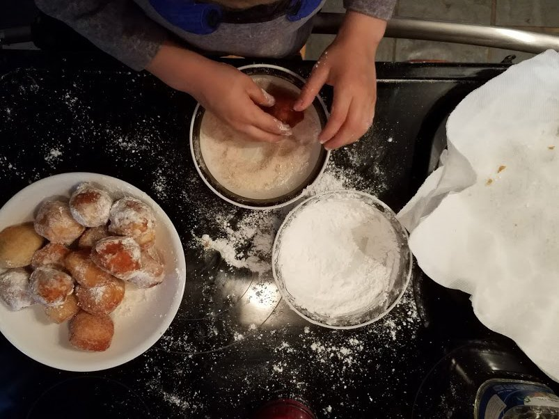 Making Donut Bites with the Family
