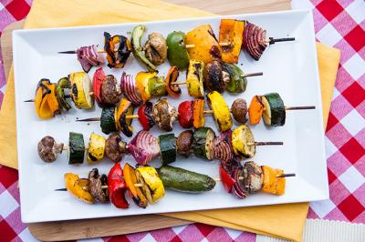 Marinated Grilled Veggie Kabobs from Everyday Good Thinking by @hamiltonbeach