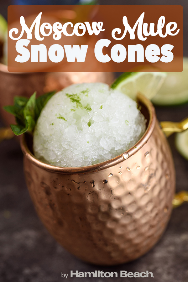 Moscow Mule Snow Cones