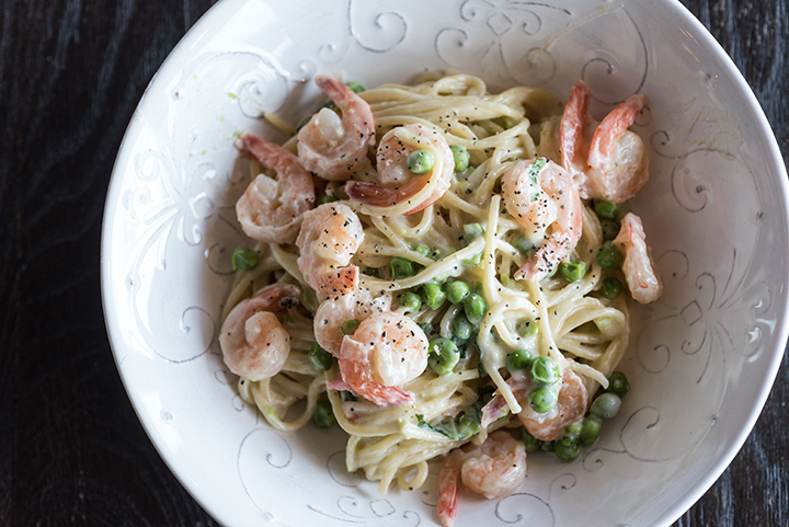 One-Pot Pasta: Shrimp Alfredo