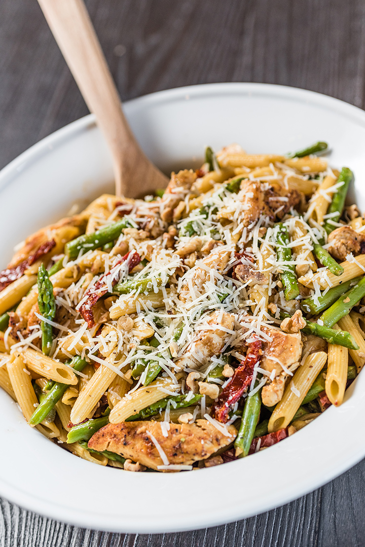 Pasta with Asparagus and Chicken - 5