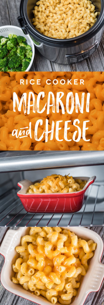 Rice Cooker Mac and Cheese Pinterest Graphic