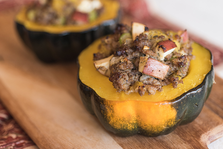 Sausage & Apple Stuffed Acorn Squash