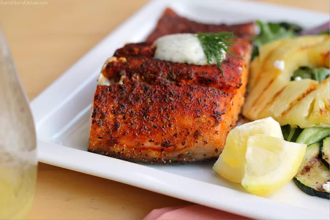 Grilled Blackened Salmon