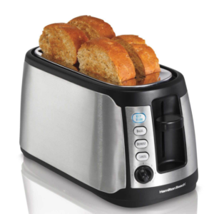 Keep Warm 4 Slice Long Slot Toaster