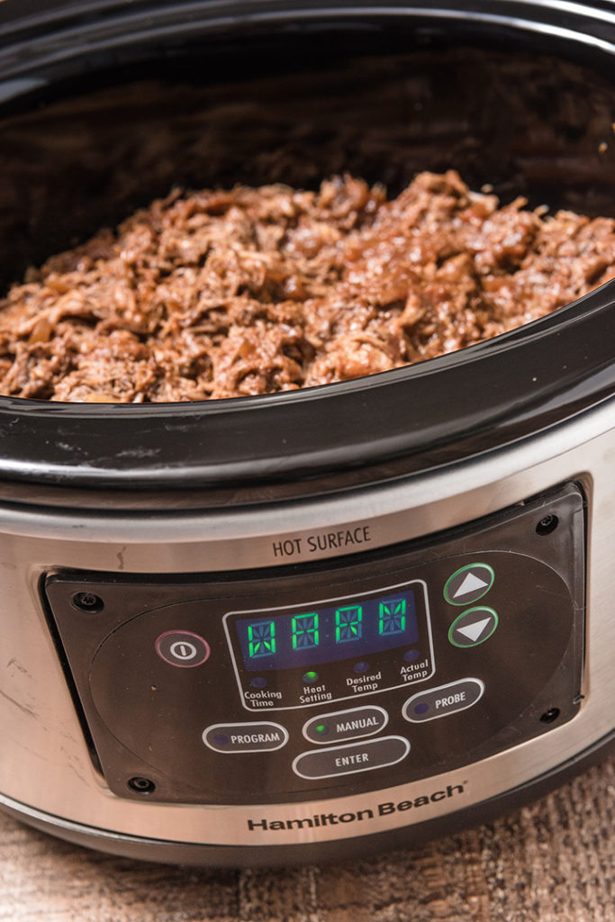 Slow Cooker Shredded Beef BBQ