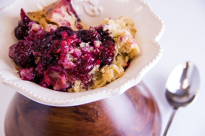 Lemon Triple Berry Cobbler