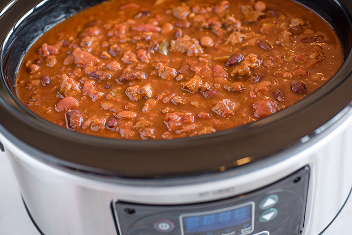 Slow Cooker Hearty Beef Chili for Halloween Night