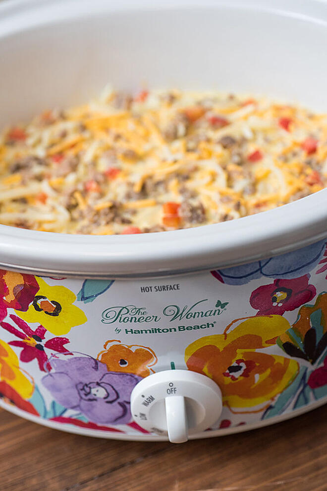Slow Cooker Hashbrown Casserole