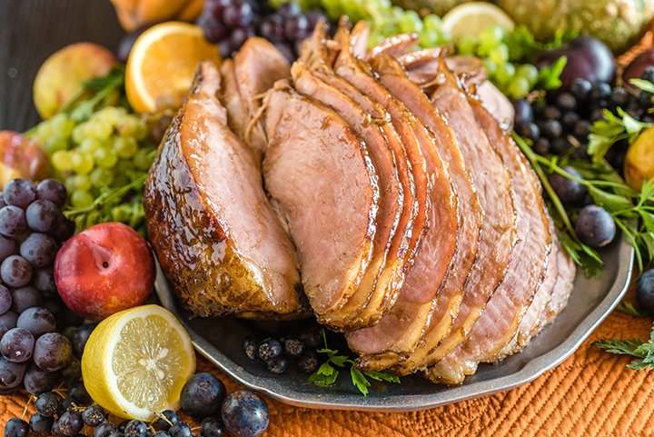 Slow Cooker Honey Glazed Spiral Ham | @hamiltonbeach