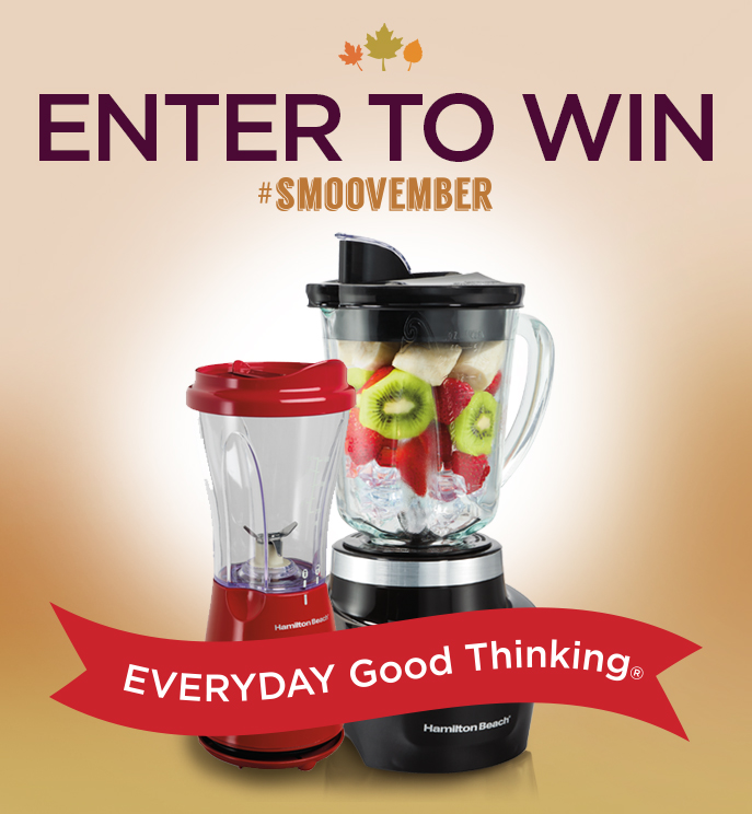 #Smoovember Giveaway all month at EverydayGoodThinking.com