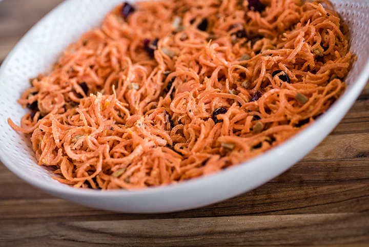 Spiralizer Carrot Slaw
