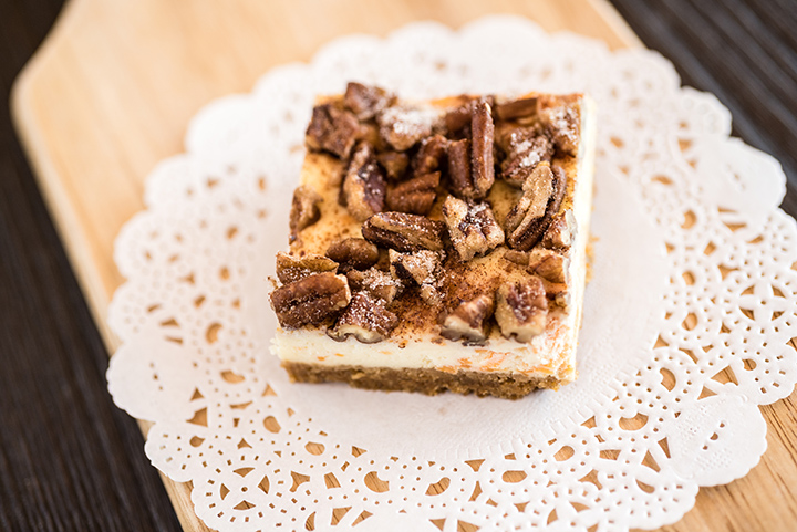 Spiralizer Sweet Potato Cheesecake Bars