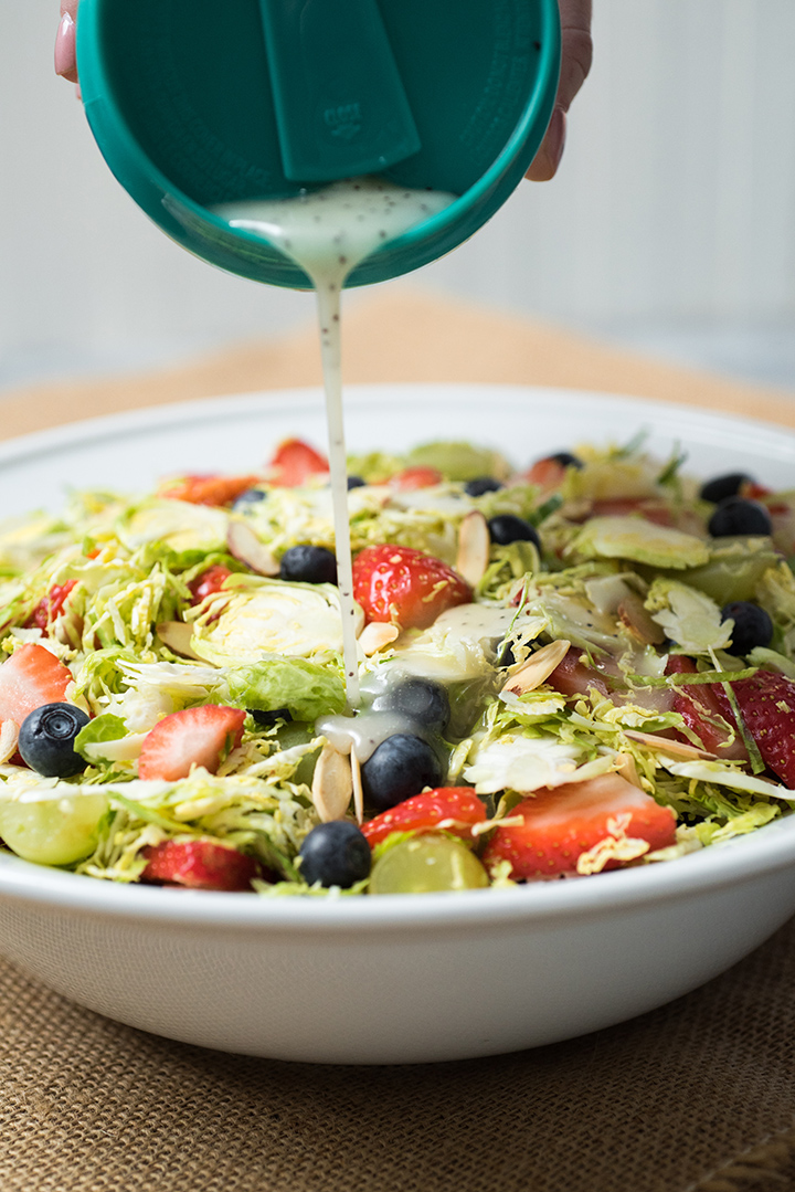 Brussels Sprouts & Berries Salad