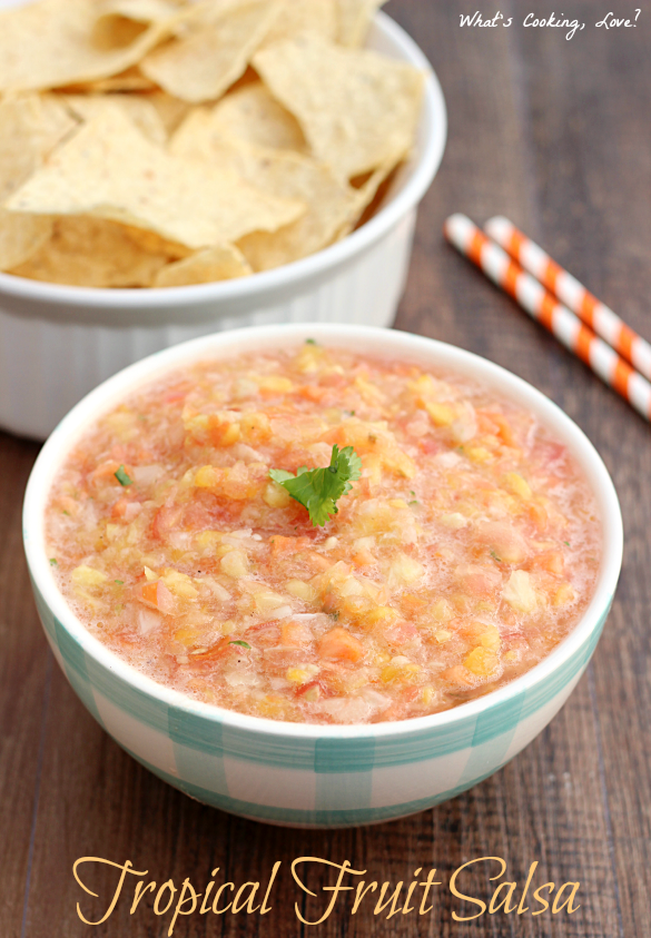 Tropical Fruit Salsa from What's Cooking, Love?