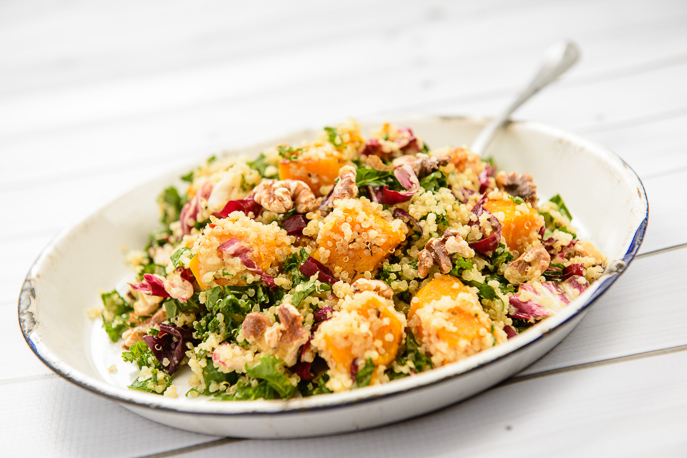 Butternut Squash Kale Quinoa Salad from Everyday Good Thinking, the official blog of @HamiltonBeach