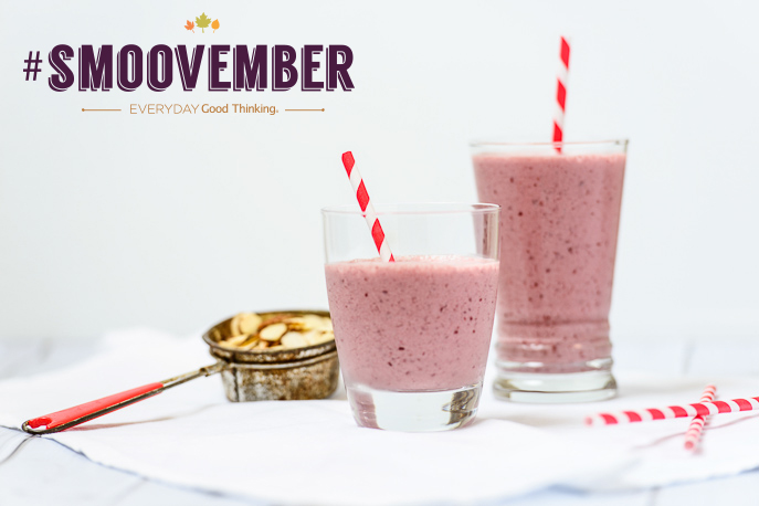 Cherry Almond Smoothie #Smoovember from Everyday Good Thinking, the official blog of @HamiltonBeach