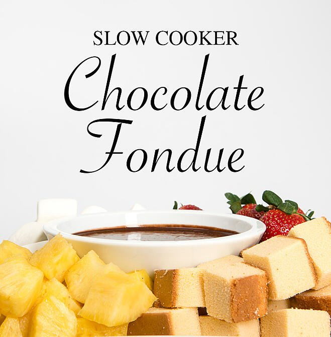Chocolate Fondue in the Slow Cooker from Everyday Good Thinking, the official blog of @HamiltonBeach