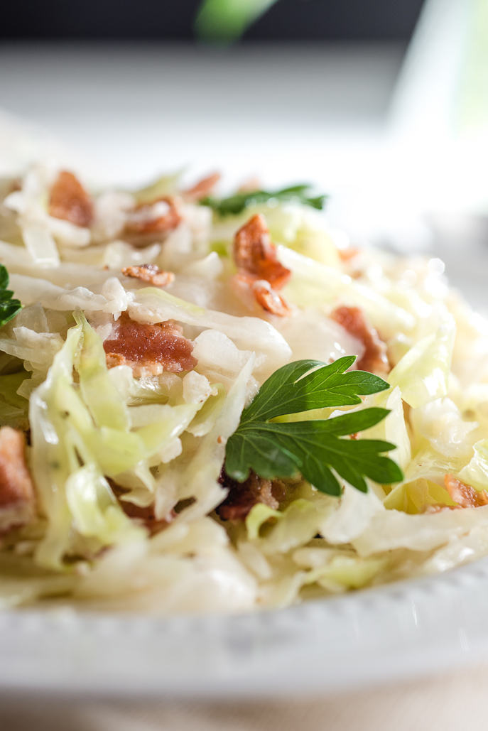 Creamed Cabbage with Bacon from Everyday Good Thinking, the official blog from @hamiltonbeach