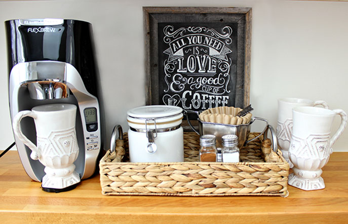Center Stage: How to Create a Perfect Coffee Nook by Driven by Decor for Everyday Good Thinking by @hamiltonbeach