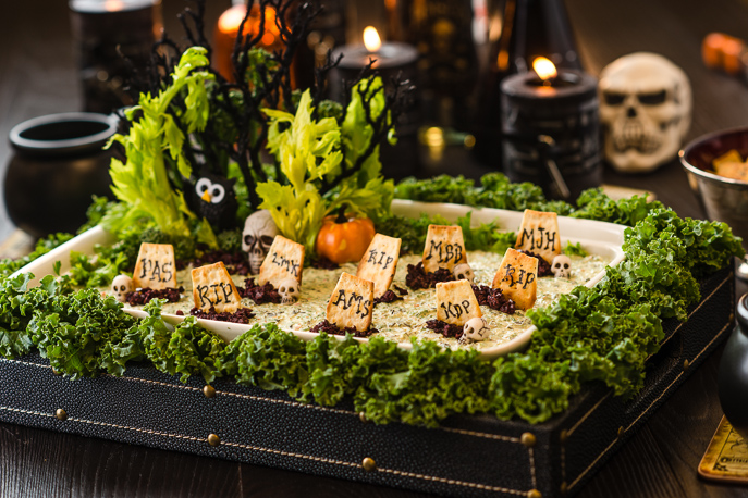 Halloween Graveyard Party Dip from Everyday Good Thinking, the official blog of @hamiltonbeach