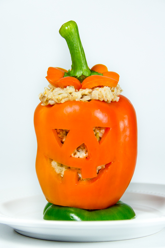 Halloween Jack-o-Lantern and Witch Stuffed Peppers from Everyday Good Thinking, the official blog of @hamiltonbeach