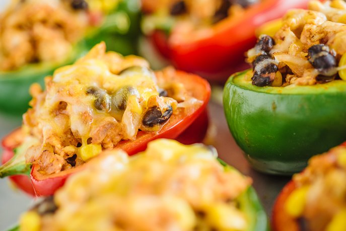 Healthy Southwestern Stuffed Peppers