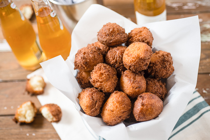Fried Hushpuppies are perfect for crab and fish dinners - from Everyday Good Thinking, the official blog of @hamiltonbeach
