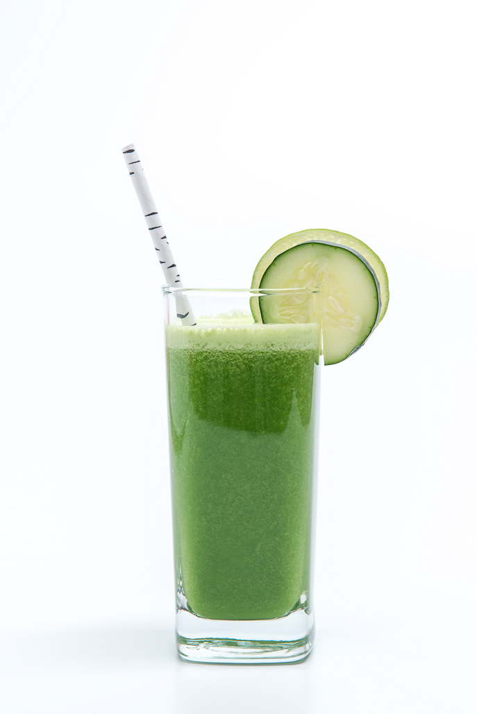 Kale, Cucumber and Cilantro Green Juice from Everyday Good Thinking, the official blog of @hamiltonbeach