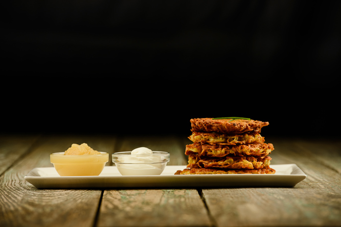 Potato Latkes from Everyday Good Thinking, the official blog of @HamiltonBeach