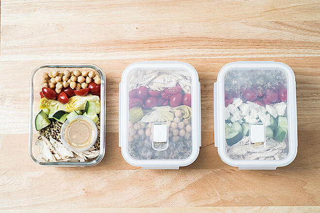 Mediterranean Chicken Quinoa Bowl Meal Prep