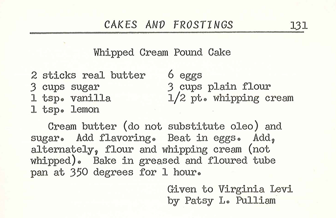 Heritage Dish: Whipped Cream Pound Cake featuring Annie Arnold - everydaygoodthinking / @hamiltonbeach